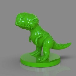untitled.115.jpg Download OBJ file Stylized Dinosaur T Rex • 3D printer object, PaburoVIII