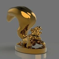 untitled.475.jpg Télécharger fichier STL gratuit Figurine Pepe Le Pew • Modèle pour impression 3D, PaburoVIII