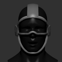 01.jpg Download free STL file Quarantine Mask Glass • Template to 3D print, PaburoVIII