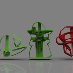 untitled.29.jpg Download STL file The Mandalorian cookie cutter Xmas Collection • 3D printing object, PaburoVIII