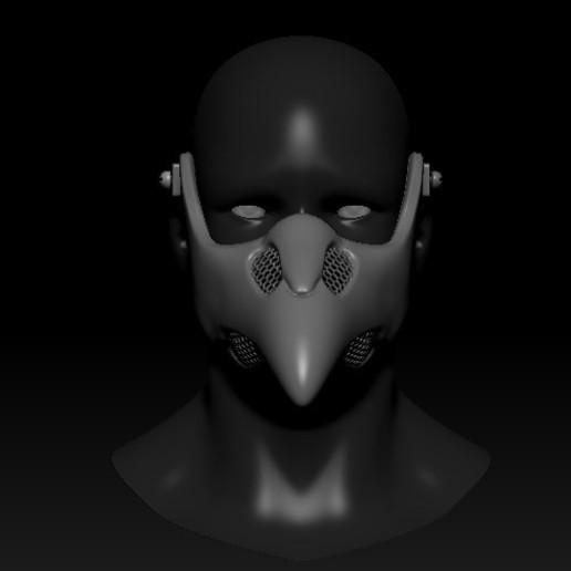 Download 3D print files Quarantine Mask Plague Doctor Cyberpunk, PaburoVIII