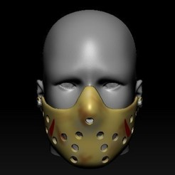 Screenshot_1.jpg Download OBJ file Quarantine Mask Jason Voorhes Mask • 3D printing object, PaburoVIII