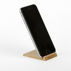 3D printer file STANDINO: the little smartphone holder, MonzaMakers