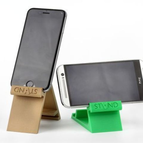 stand1.jpg Download STL file STAND: the different smartphone holder • 3D printable model, MonzaMakers