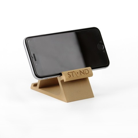 3D printing model STAND: the different smartphone holder, MonzaMakers