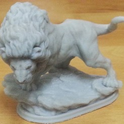 3D print files Strong Lion Sculpture, kfir