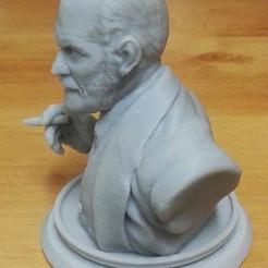 Download STL file Sigmund Freud Bust • 3D printing design, kfir