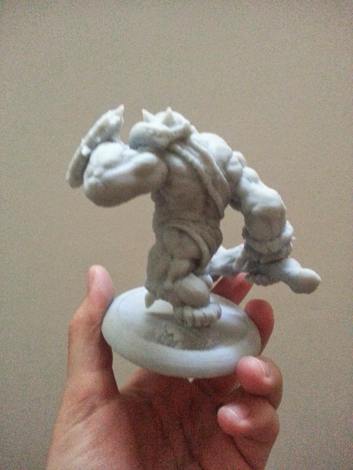 4.jpg Download STL file Grunt War Club, 3D printed Orc • Design to 3D print, kfir