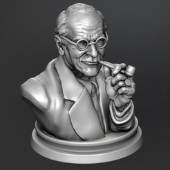 3D printer files Carl Jung Bust, kfir