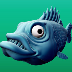 fishrender.jpg Download free STL file Fish • Template to 3D print, Davision3D