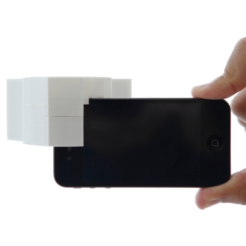 Download free 3D printing models iPhone 4s Stereo Camera Adapter, CWandT