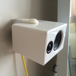 Free 3D print files Speaker Wall Mount, CWandT