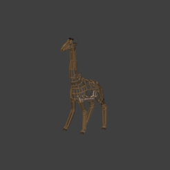 Download OBJ file Low poly wireframe giraffe • 3D print model, PigArt