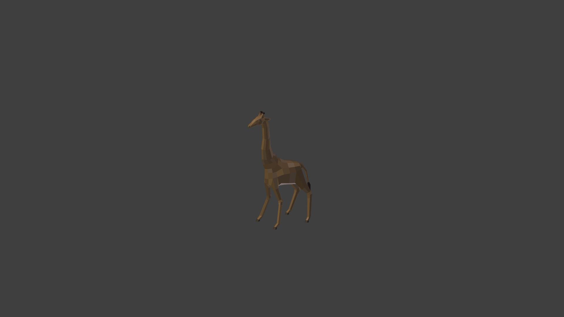 3.png Download OBJ file Low poly giraffe • 3D printer design, PigArt