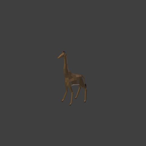 3d printer model Low poly giraffe, PigArt