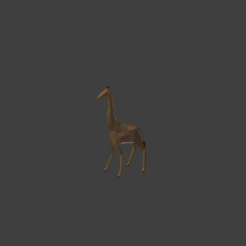 3d printer model Low poly giraffe, PigArt