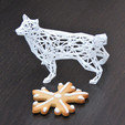 3d printer files Low poly wireframe husky, PigArt