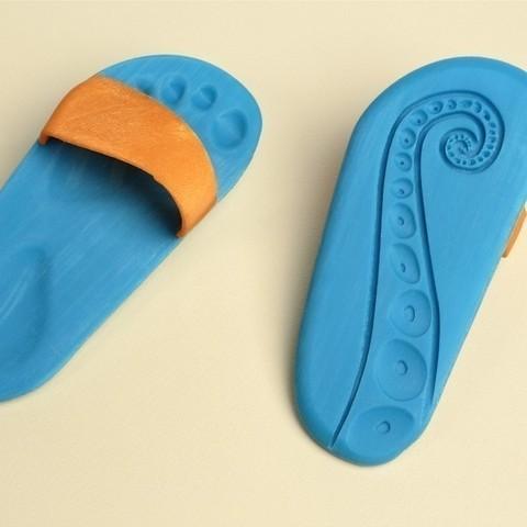 modelo stl gratis Sandalias de playa, leothemakerprince