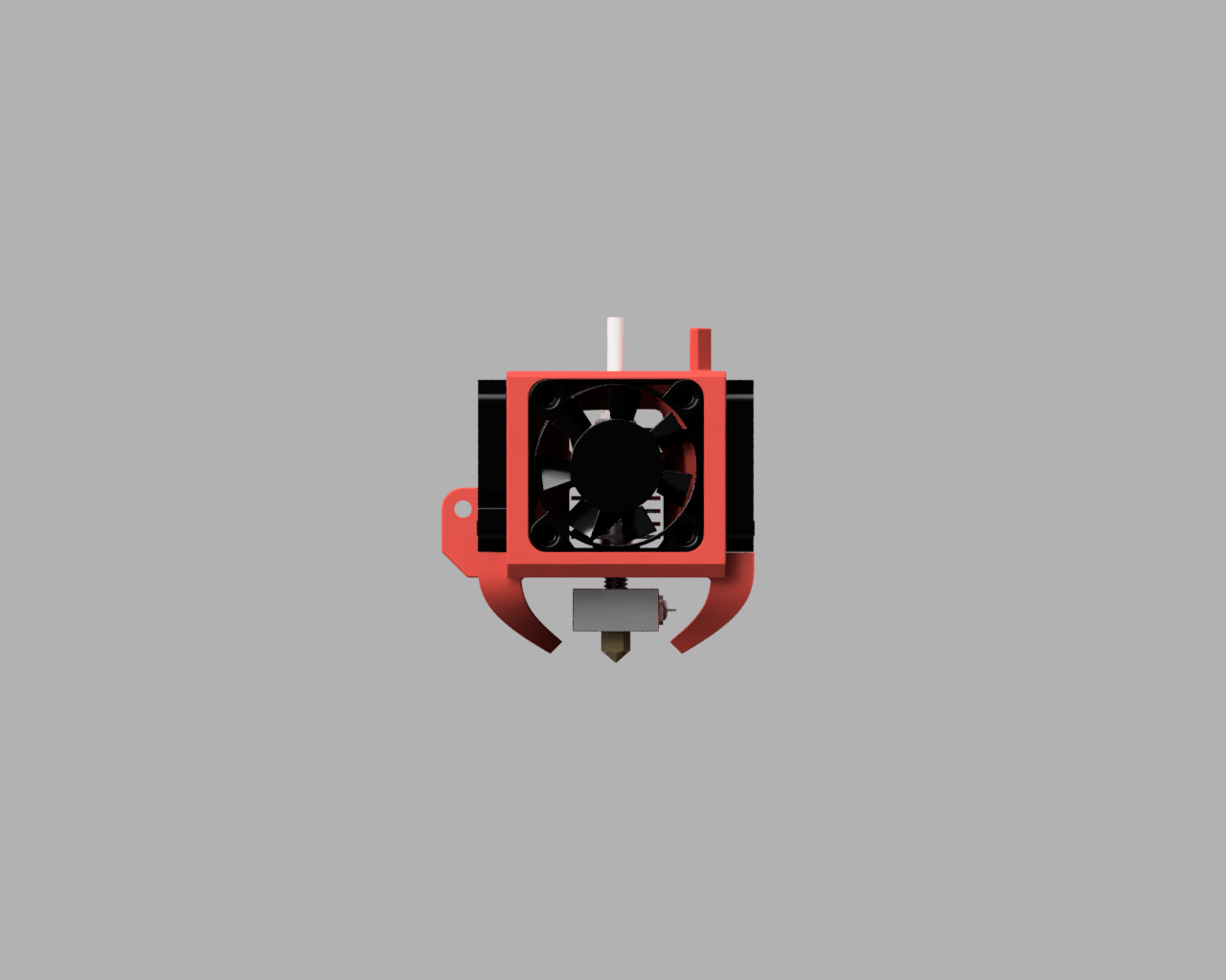 Front.PNG Télécharger fichier STL gratuit Refroidissement des bouts de choux de Creality et conduit remplaçable • Modèle pour impression 3D, Theshort