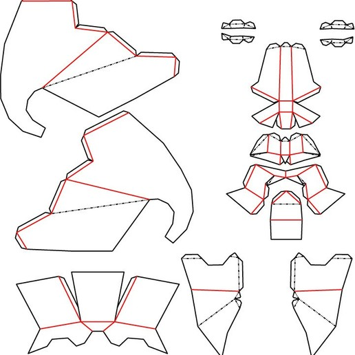 Download free 3D printing models Low Poly DXF, Theshort