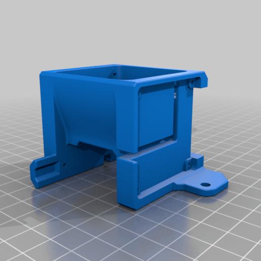 Fan_Housing.png Télécharger fichier STL gratuit Refroidissement des bouts de choux de Creality et conduit remplaçable • Modèle pour impression 3D, Theshort