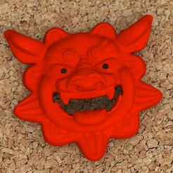shisa_mask_01.jpg Download free STL file Shisa mask • Model to 3D print, bs3