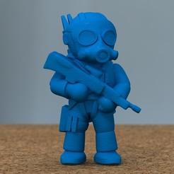 Descargar modelos 3D para imprimir soldado con rifle, bs3