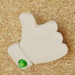 ThumbsUp_01.jpg Download free STL file thumbs up - push pin • 3D printer object, bs3
