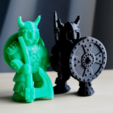 Download free STL file warrior carrying a shield • 3D printable model, bs3