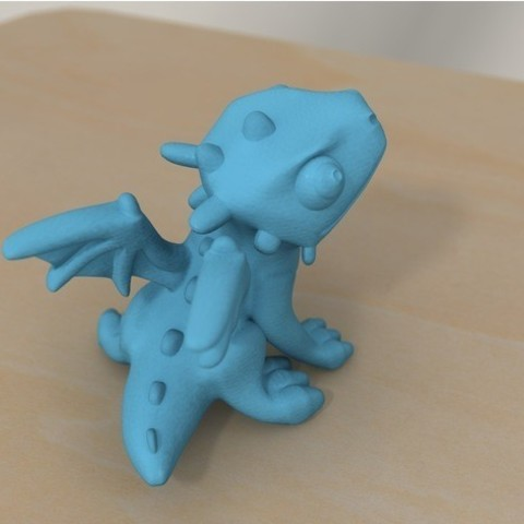 4f65b018fde1797ef1b2cbe3ad487ac7_preview_featured.jpg Download free STL file cute dragon (remodeled) • 3D printable object, bs3