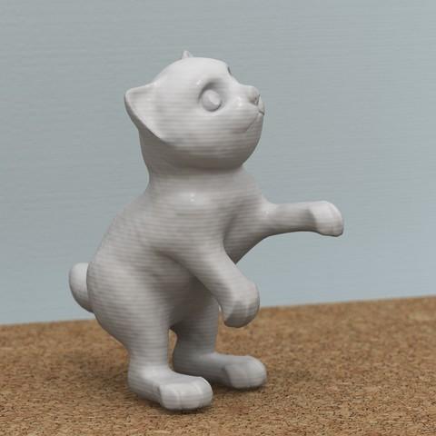 Free 3D model standing cat, bs3