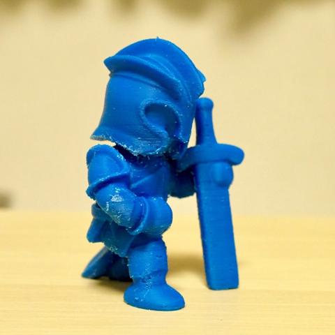 Download free STL file kneeling knight • 3D printing model, bs3