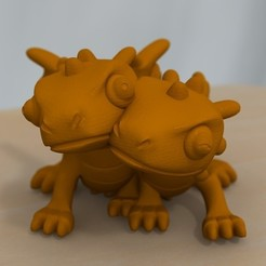 Free 3D printer files cute dragon couple, bs3