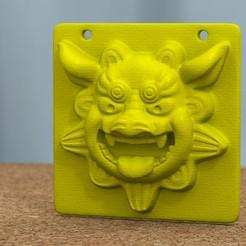 shisa_mask_plate_02.jpg Download free STL file Shisa mask panel • Model to 3D print, bs3