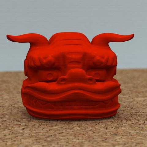 Plan imprimante 3D gatuit Shishigashira -Lion Headgear-[GRATUIT], bs3