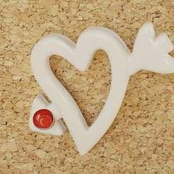 HeartArrow_01.jpg Download free STL file heart arrow - push pin • 3D print object, bs3