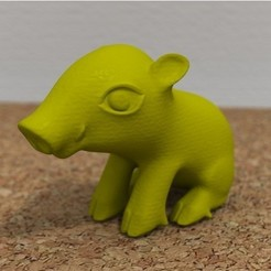 Free 3D print files sitting boar, bs3
