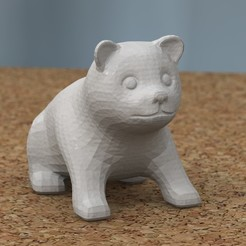 Free 3D printer model puppy sitting [FREE], bs3