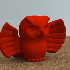 3D print model Owl with wings spread, bs3