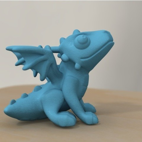 Free 3d print files cute dragon (remodeled), bs3