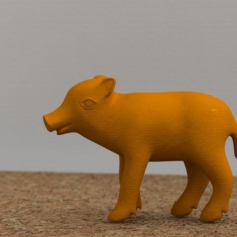 Imprimir en 3D gratis Jabalí, bs3