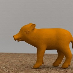 Free 3D printer model Baby boar, bs3