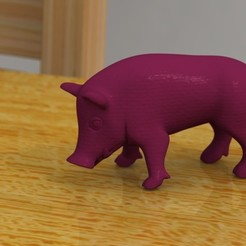 Free 3d printer files eating boar, bs3