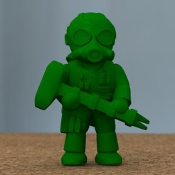 Download 3D print files soldier with hammer, bs3