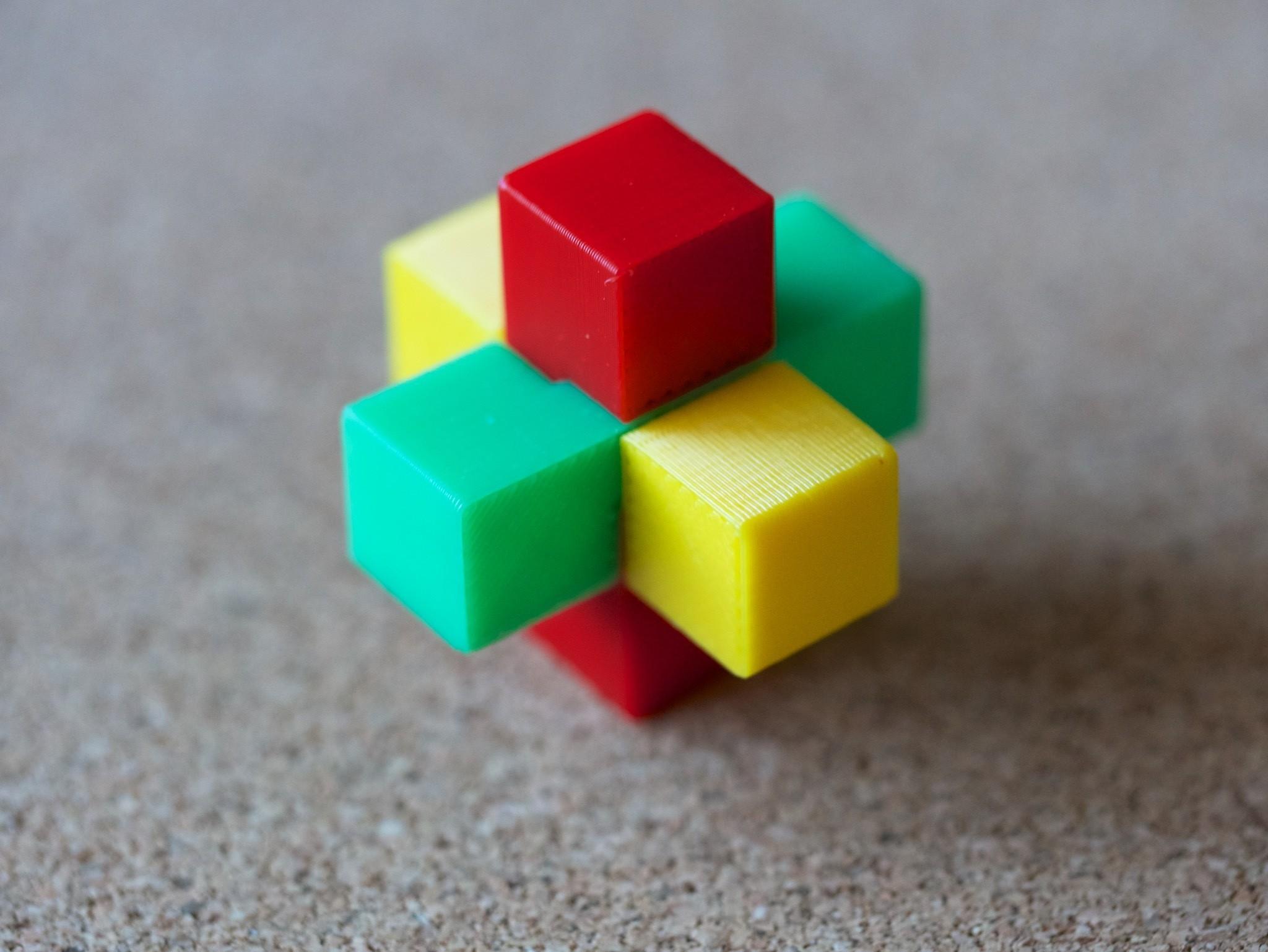 3pzlR_01.jpg Download free STL file 3 piece puzzle (R) • 3D print template, bs3
