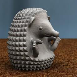 Download free STL file hedgehog sitting, bs3