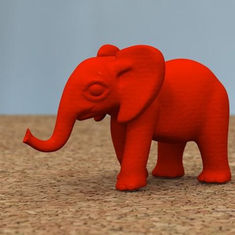 Descargar modelos 3D elefante bebé[HIGH-POLY], bs3