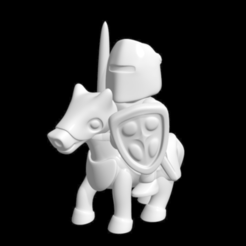 Free 3D printer model knight riding, bs3
