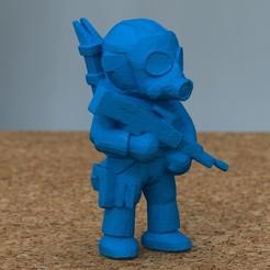 Descargar modelo 3D gratis soldado con rifle[GRATIS], bs3