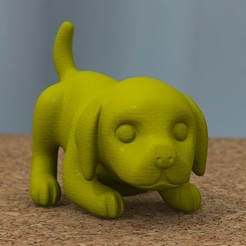 beagle_01.jpg Download STL file baby beagle • Template to 3D print, bs3